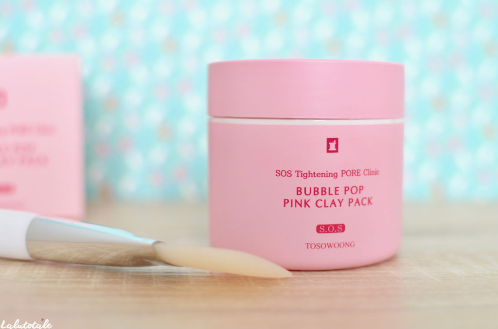 Tosowoong masque argile rose bubble pop puink clay SOS
