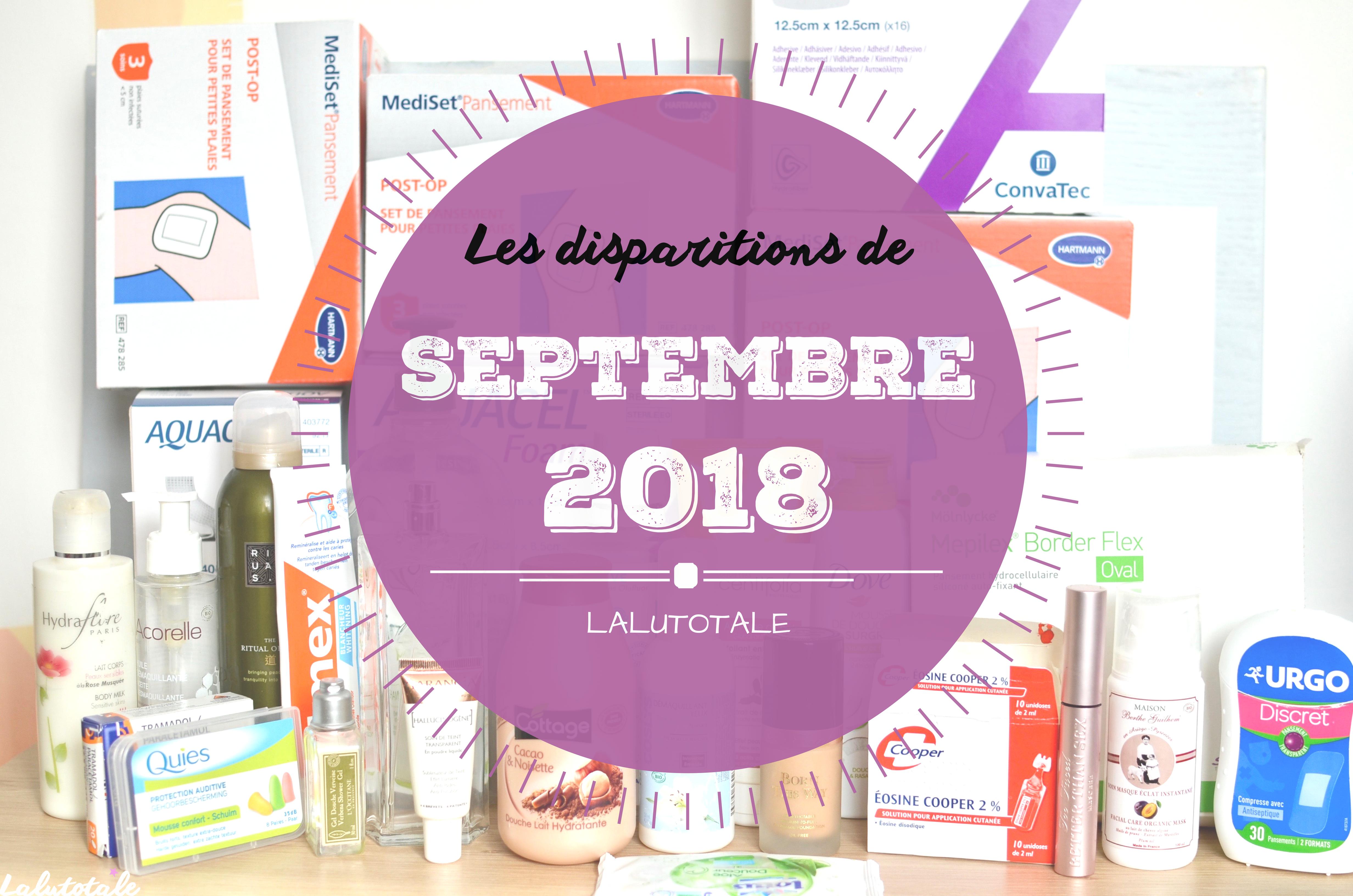 ✞ Les disparitions de Septembre 2018 ✞