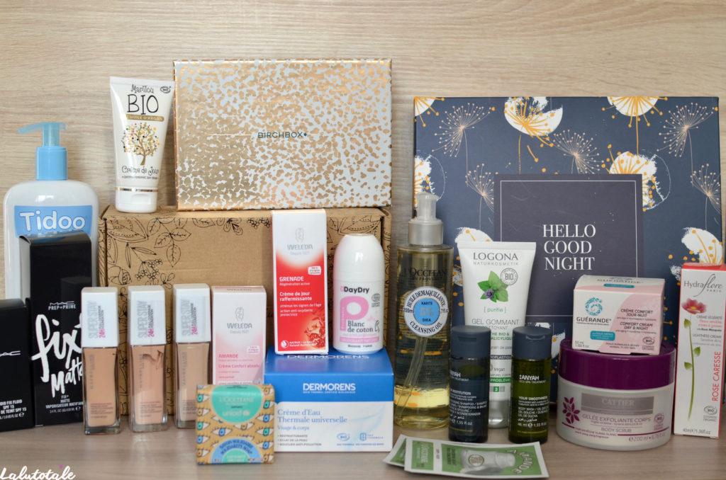 haul boite lettres produits cosmétiques beauté octobre