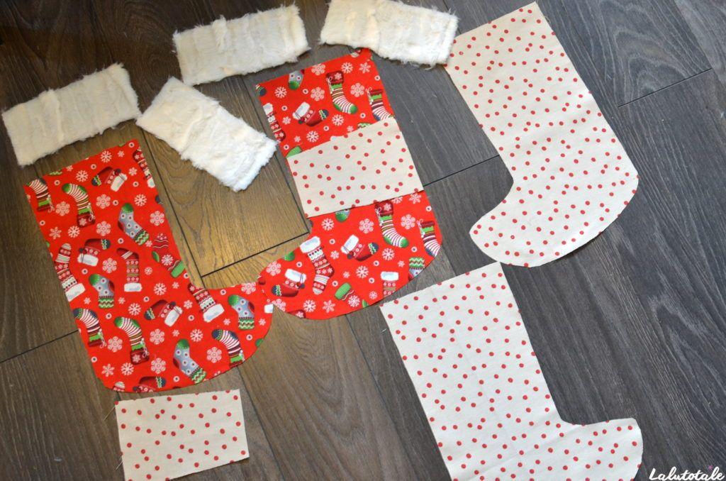 tuto DIY couture chaussette Noël personnalisée débutant tutoriel gratuit
