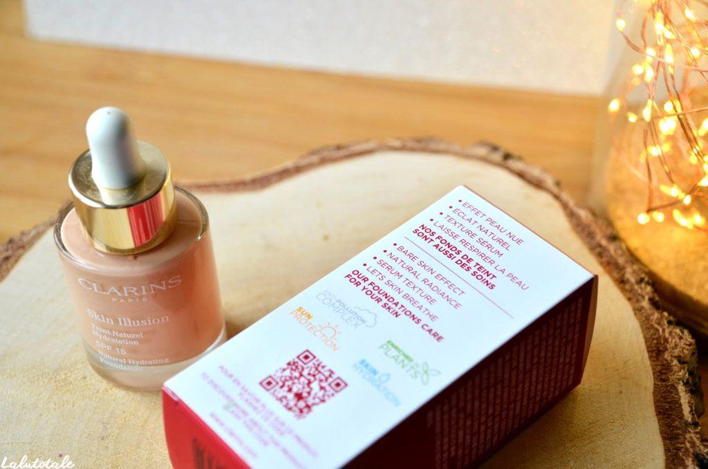 Clarins Skin Illusion fond teint soin beauté hydratation