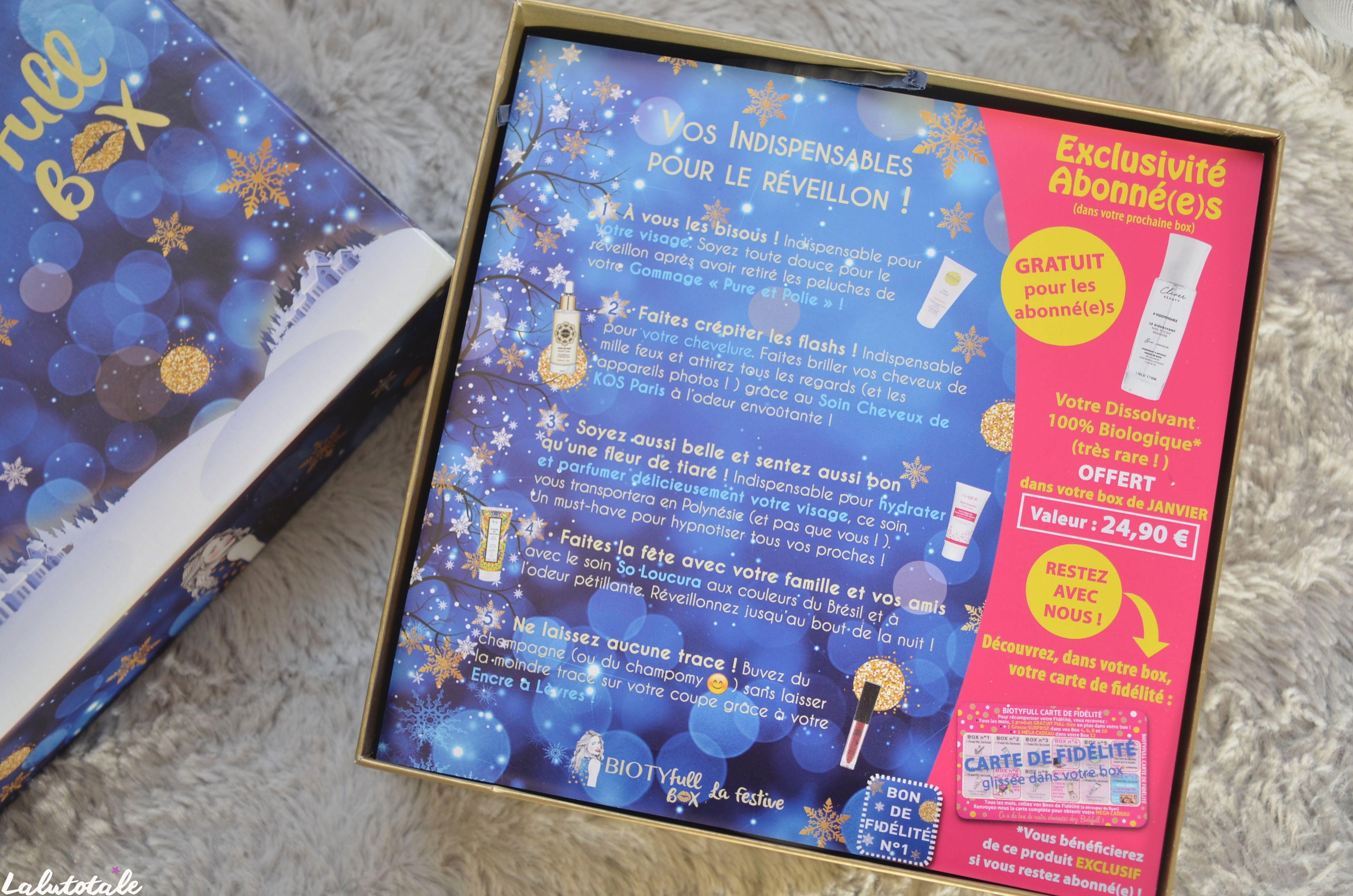 ( BIOTYFULL BOX ) J'ai testé la box de Noël  🎄- viiiite il en reste ! –