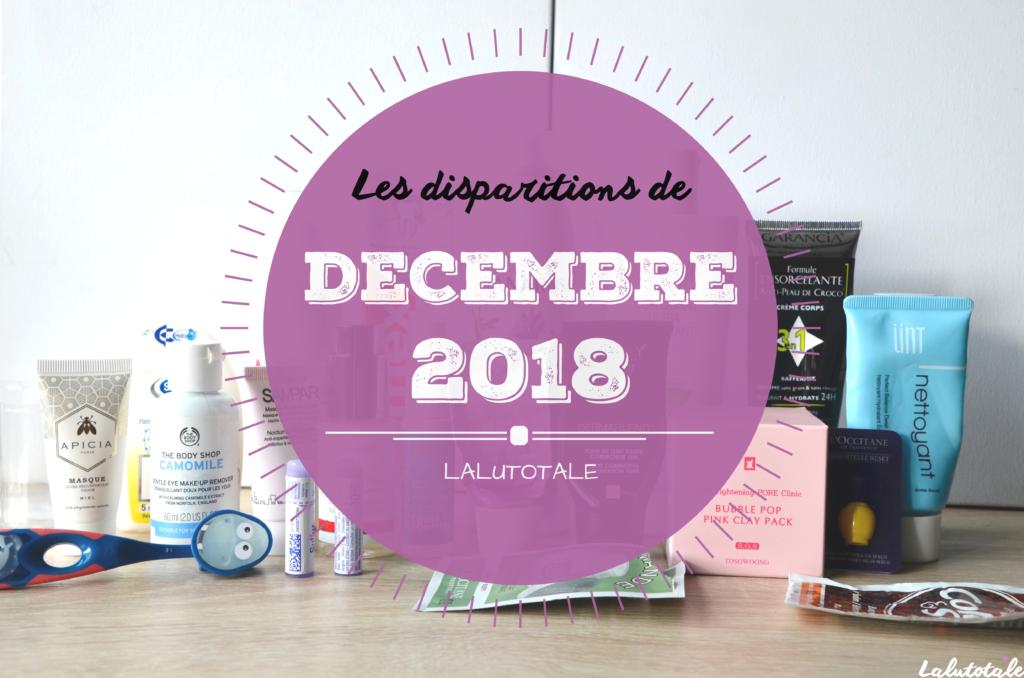 produits beauté cosmétiques disparus terminés décembre 2018 disparitions