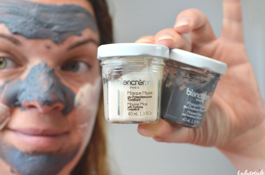 blancrème masque mousse Paris visage