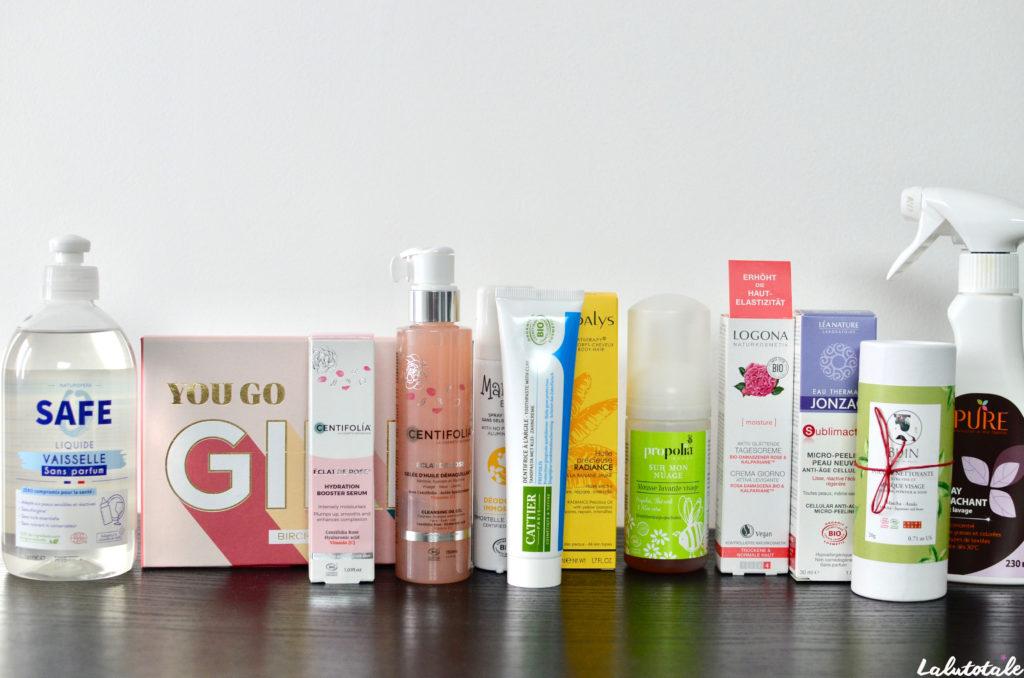 haul boite lettres produits cosmétiques beauté septembre