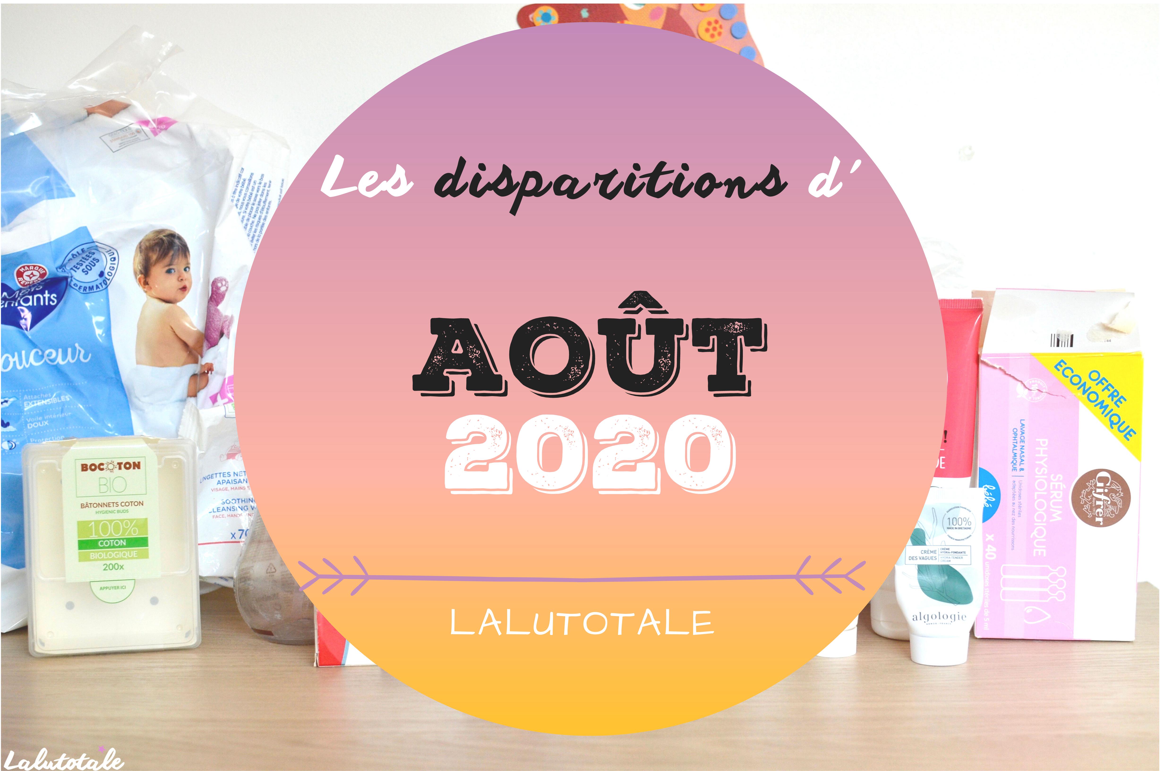 ✞ Les disparitions dans ma salle de bains en Août 2020 ✞