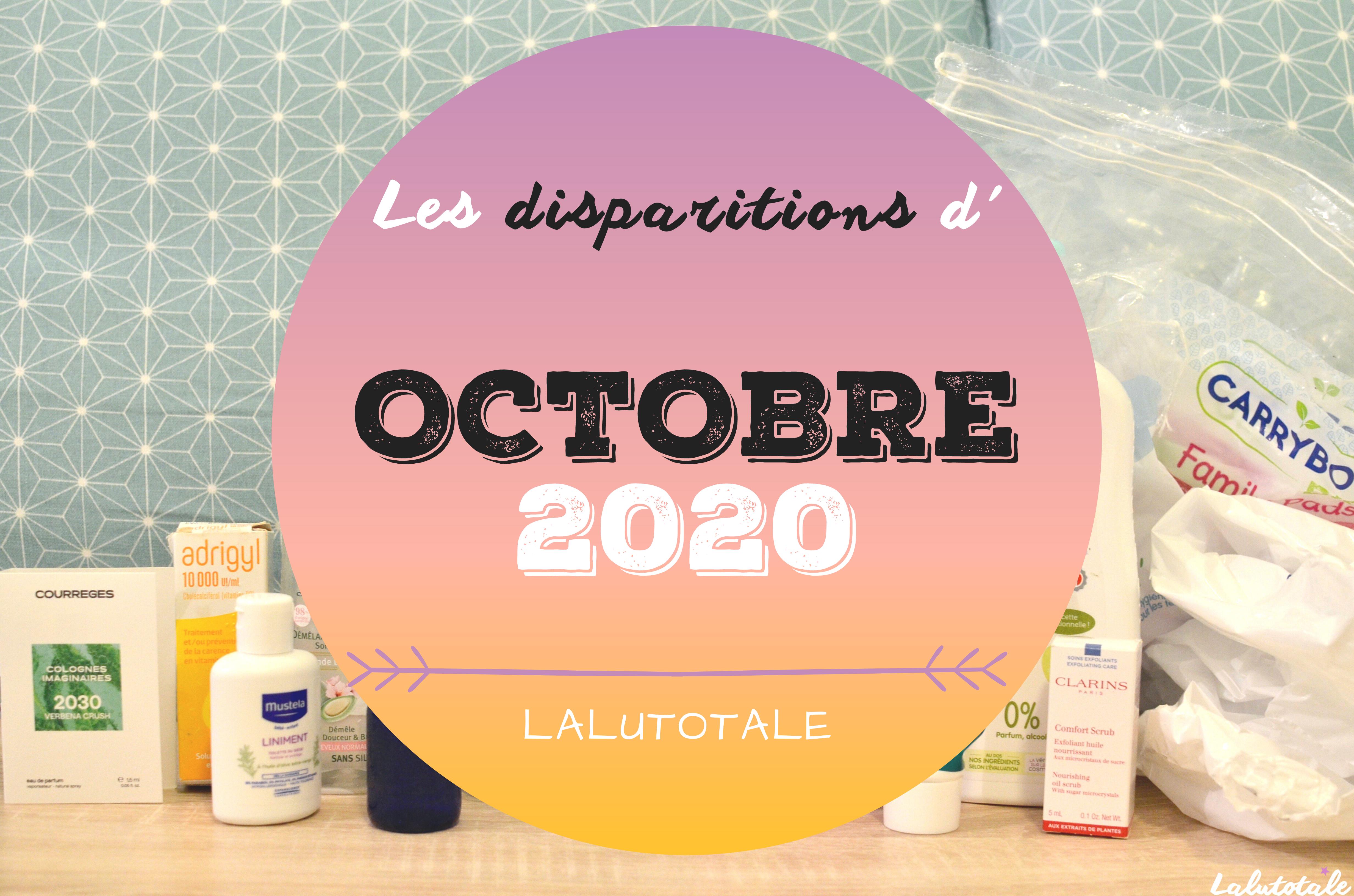 ✞ Les disparitions dans ma salle de bains en Octobre 2020 ✞